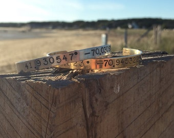 Latitude and Longitude Cuff