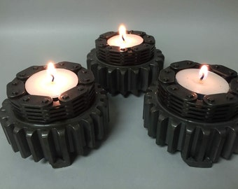 Set gear candle holders