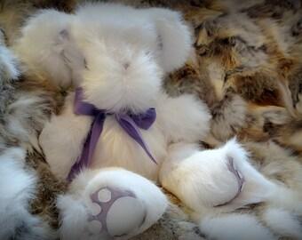 Nanook, Custom Handmade Rabbit fur Teddy Bear