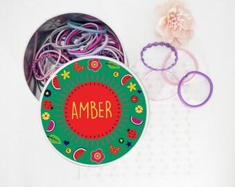 Personalised Wonderful Watermelon Hair Bobble Tin-Accessories Tin-Storage Tin!