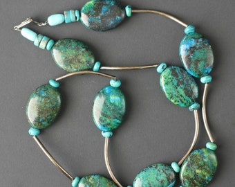 Turquoise Beaded Necklace Vintage