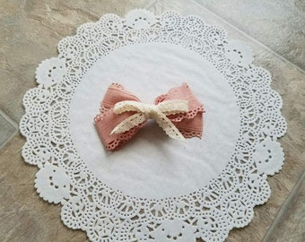Beige or Pink Bows