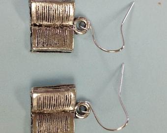 Book earrings, Open Book Earrings
