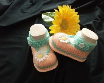 knitted baby shoes, baby shoes, baby socks, Babybooties * magic *.