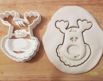 christmas cerf élan vacances hiver cookie cutter animal kawaii birthday cake emporte pièce 3d print cute mignon geek joyeux noel