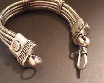 Silver Snake Chain Bracelet, vintage India