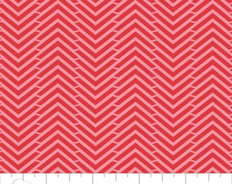 CLEARANCE - Camelot Mixology - Herringbone in Ruby - Blender Fabric