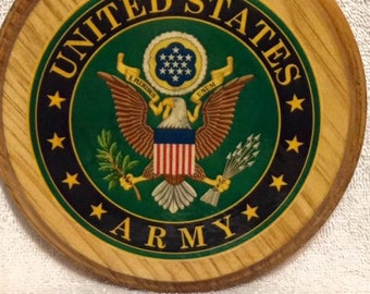 United States Army Seal Wooden Plaque