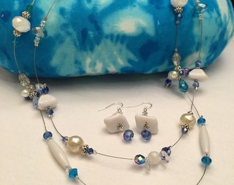 Item # 2 Precious blue necklace and earring
