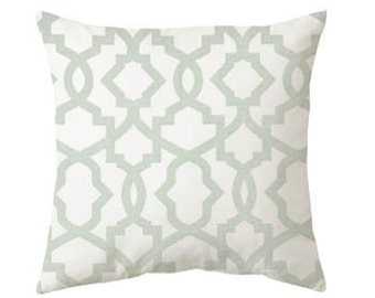 green pillow - sage pillow - gray pillow - pillow cover only - cushion cover -ZIPPER CLOSURE