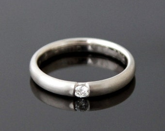 Engagement ring ELEGANT white gold 8 k or 14 k