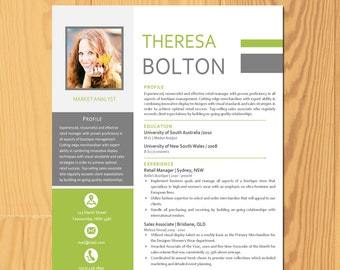 letter and a4 included premade cv template cover letter template