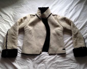 Vintage faux sheepskin jacket
