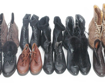 Wholesale Vintage Leather Ankle Boots Ten Pairs