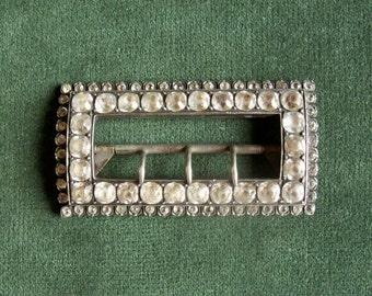Large, Antique, Rhinestone Shoe buckle