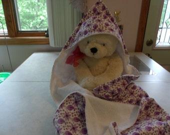 Purple Hooded Baby Towel