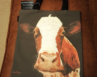 Ayrshire cow tote bag - cow design tote bag,cow leisure bag, cow shopping bag