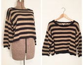 Hold for tessa //Vtg 90s COTTON ANN TAYLOR Sweater// Boxy Minimalist Oversize Pullover// Ladies L