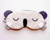 Koala Sleeping Mask, Sleep Eye Mask, Koala eyemask, eye mask, sleep mask, Wombat mask, koala mask, cosplay mask, blindfold - CREAM COLOR