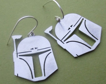 Boba Fett Helmet Earrings