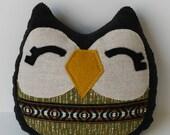 Sebastian the Owlet little owl pillow plushie
