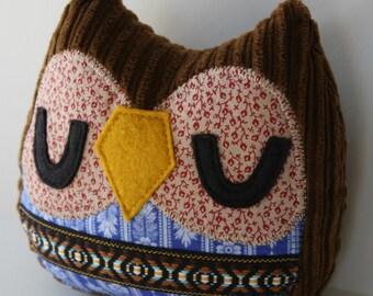 Stuffed Owl -Penelope the Owlet pillow- owl pillow,owl toy,owl plush,stuffed owl toy,throw pillow,owl cuddly toy,owl stuffed,nursery decor