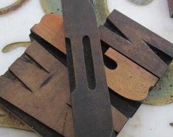 Antique Letterpress Wood Type Printing Block Letter D