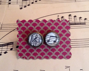 Vintage Sheet Music Earrings / Gift For Her / Music Note Earrings / Music Note Jewelry / Music Teacher Gift