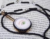 "Georgian-style ""lover's eye"" necklace"
