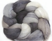 MERINO SILK handdyed wool roving top spinning or felting fiber 3.7 oz