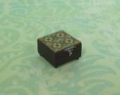 Dollhouse Miniature Wood Trinket Box with Tile Design
