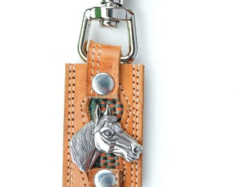 Horse Key Chain Up Cycled with Snap
