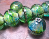 color wash river rocks (by-the-bead) lampwork glass bead