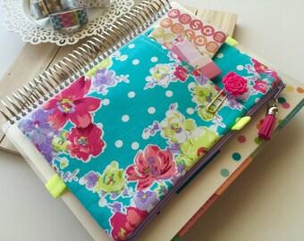 Floral bag - planner accessories pouch - bullet journal bag - floral pen holder - gift for teacher - roses print clutch