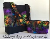 Handbag, Purse, Tote bag, Purple, orange, green, blue, marbled, Handbags and purses, Totes, gift for her, gift for women(129)