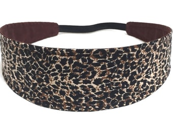 Women's Reversible Fabric Headband - Headbands for Women - SAFARI ANIMAL PRINT