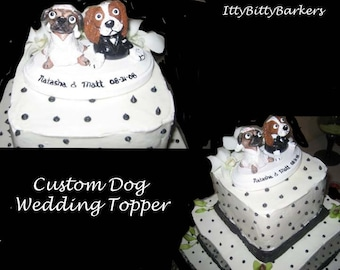 CUSTOM Dog Wedding Cake Topper from your photos