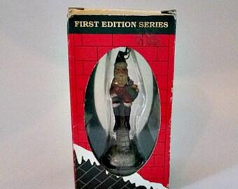 Vintage Jim Shore Chimney Santa Christmas Ornament - 1992 in Original Box