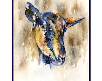 Watercolor Goat Notecards Notecards, Goat Prints, Goat Art, Gift Box, Stocking Stuffers