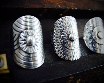 shield maiden ... sterling silver ring