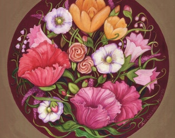 One Art print of Floral circle