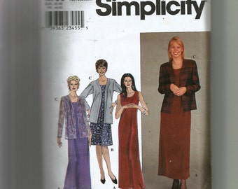 Simplicity Misses' Dress and Jacket Pattern 8937