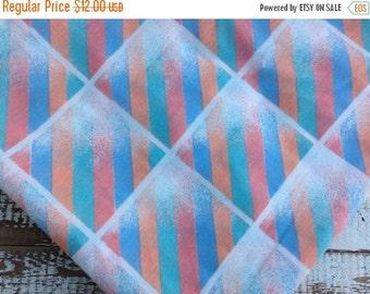 30% OFF SUPER SALE- Eighties Bed Sheet-Vintage Twin Flat Sheet-Retro