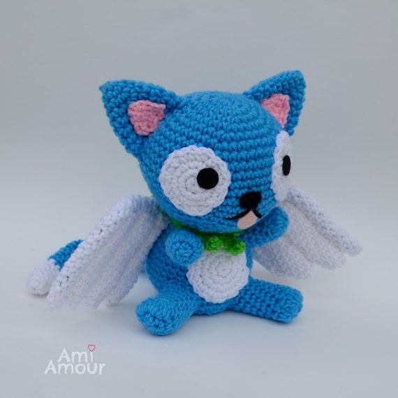 Glucklich Fairy Tail Katze Plusch Amigurumi Puppe von amiamour