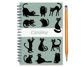 Cat themed custom planner, 2016 weekly planner, personalized daily calendar, custom color, 2017 12 months, cat lover present, SKU: pli cat