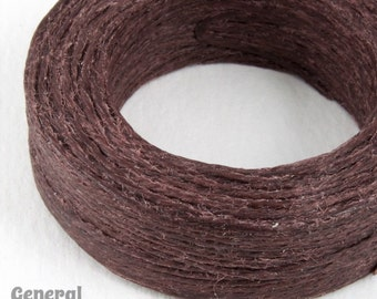Dark Brown Waxed Linen Cord #CDQ002