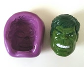 Marvel's HULK Face Silicone Mold Mould 35 mm - Polymer Clay Sugar paste Fimo Resin Cake Decorating