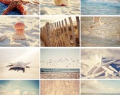 READY TO SHIP calendar 2017 wall calendar, 2017 beach calendar,  beach photography, starfish seashells, photography calendar