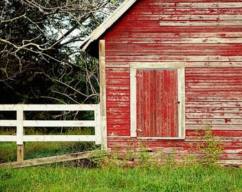 rustic red home decor barn photography farm decor red wall art old - Farm Decor