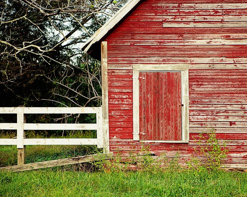 Red Barn Wall Decor : Rustic red home decor barn photography farm wall